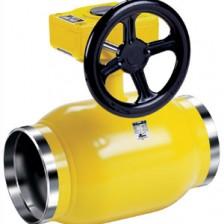 Кран шаровой газовый Vexve Тип 114 Редуцированный, стальной, c ручным редуктором, под приварку / под приварку